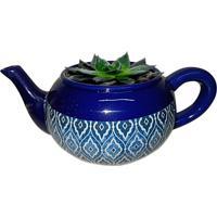 Cachepot Urban Home De Cerâmica Azul Teapot Marrocan N
