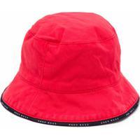 Boss Kids Chapéu Bucket Com Acabamento De Logo - Vermelho