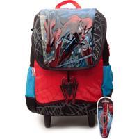 Mochila De Rodinhas Sestini Infantil Spider-Man Preta/Azul