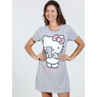 Camisola Feminina Strass Estampa Hello Kitty