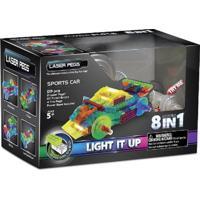 Blocos De Montar Laser Pegs Carro Esporte 8 Em 1 Branco