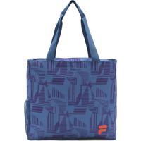 Bolsa Fila Print Condition Azul