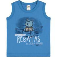 428ef03943e72 ... Camiseta Regata Infantil Pulla Bulla Meia Malha Masculino - Masculino -Azul