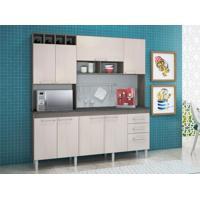 Cozinha Compacta 8 Portas Ravenna Malbec / Avela - Peternella