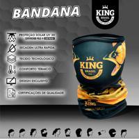 Bandana King Brasil Com Proteção Uv - Preto