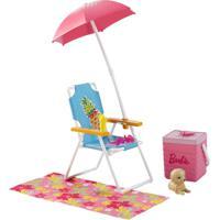 Acessórios Para Bonecas Barbie - Acessórios Para Casinha - Kit De Praia - Mattel - Feminino