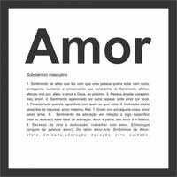 Quadro Decorativo Amor Preto E Branco
