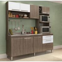 Cozinha Compacta Blume 8 Portas E 2 Gavetas Casamia - Nover Com Branco