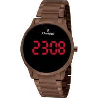 Relógio Champion Digital Ch40142R Feminino - Feminino-Marrom