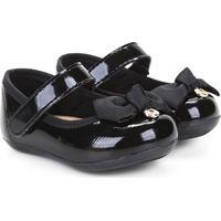 Sapato Infantil Klin Cravinho Princess Menina - Feminino-Preto