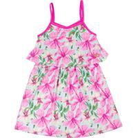 Vestido Infantil Floral Rosa - Club B