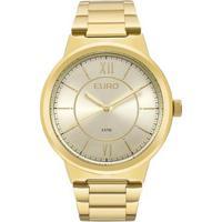 Relógio Euro Feminino Metal Trendy - Feminino-Dourado