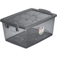 Caixa Organizadora Com Trava- Cinza Escuro- 7,5Lordene