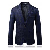 Terno Masculino Texturizado Abstract - Azul