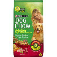 Ração Para Cães Dog Chow Adultos Raças Médias E Grandes 1Kg