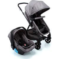 Carrinho Para Bebê Travel System Duo Poppy Cinza Mescla Cosco