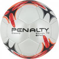 ae11c151f8 Bola De Futebol De Campo Penalty Brasil 70 Pró N4 Vii - Branco Vermelho