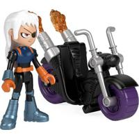 Mini Figura E Veículo - Imaginext - Dc Comics - Teen Titans Go - Ravager E Moto - Fisher Price