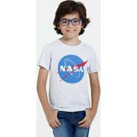 Camiseta Infantil Manga Curta Estampa Nasa Marisa