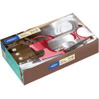Escorredor Suprema Para 20 Pratos Inox Vermelho 2104252 Brinox
