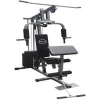 Estação De Musculação Com 80Kg Aparelho Ginástica Academia Com Puxador Wct Fitness 1001108 - Unissex