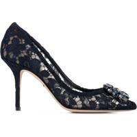 Dolce & Gabbana Sapato Com Renda - Azul
