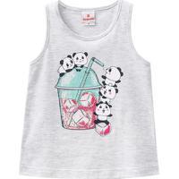 Regata Pandas- Cinza & Branca- Primeiros Passos-Brandili