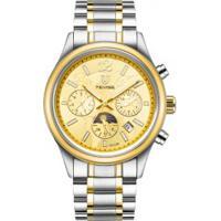 Relógio Tevise T8122B Masculino Automático Pulseira Aço - Dourado