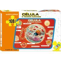 Quebra Cabeça Nig Brinquedos Célula E Tecidos Humanos 108 Peças Multicolorido