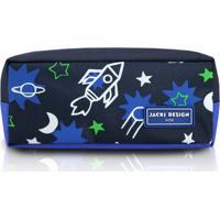 Estojo Infantil Foguete Jacki Design Sapeka Azul - Kanui