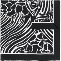 Versace Lenço Com Animal Print - Preto