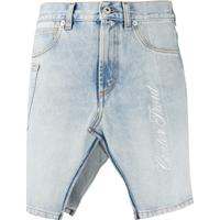Heron Preston Saia Jeans Com Detalhe De Fenda - Azul