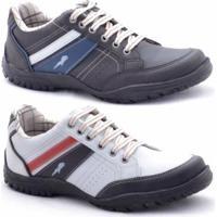 Sapatênis Polo Blu Masculino - Masculino-Preto+Branco