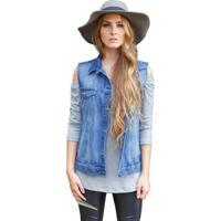 Colete Jeans Coleteria Básico Azul
