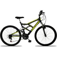 Bicicleta Aro 26 Dropp Full 18 Marchas Freio V-Brake - Unissex