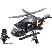 Blocos Policia Helicóptero De Combaté 219Pcs - Multikids- Br834 Br834