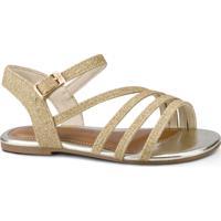 Sandália Infantil Bibi Mini Me Dourada De Glitter - 1102081 27
