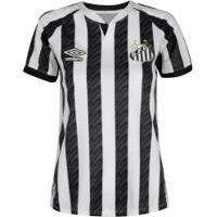 Camisa Do Santos Ii 20 Umbro - Feminina - Branco/Preto