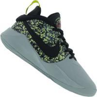 Tênis Nike Team Hustle D 9 Digi Gs - Infantil - Cinza/Preto