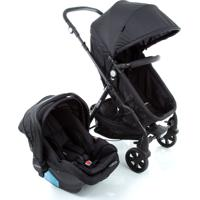 Carrinho Para Bebê Travel System Duo Poppy Preto Mescla Cosco