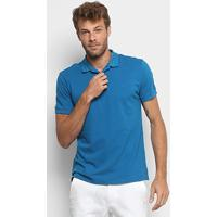 Camisa Polo Forum Piquet Masculina - Masculino-Azul