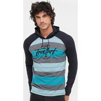 4a14ab79c6 Netshoes  Camiseta Free Surf Stripes Manga Longa Masculina - Masculino