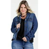 Jaqueta Feminina Jeans Bolsos Plus Size Razon