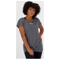 Camiseta Fila Drapped Ii Feminina Grafite Mescla