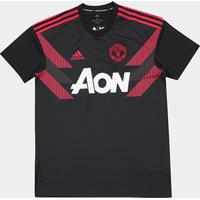 Netshoes  Camisa Manchester United Pré-Jogo 2018 Adidas Masculina -  Masculino 1af1f2a8dcdf2