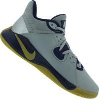 Tênis Nike Fly.By Mid - Masculino - Cinza Cla/Azul Esc