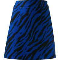Love Moschino Minissaia Com Animal Print - Azul