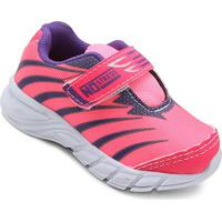 Tênis Infantil No Stress Jogging 074 - Masculino-Pink+Roxo