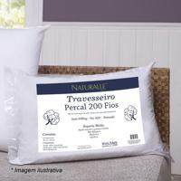 Travesseiro Em Percal Suporte Médio - Branco - 70X50Sultan