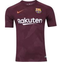Camisa Barcelona Iii 17/18 Nike - Masculina - Vinho/Laranja Esc